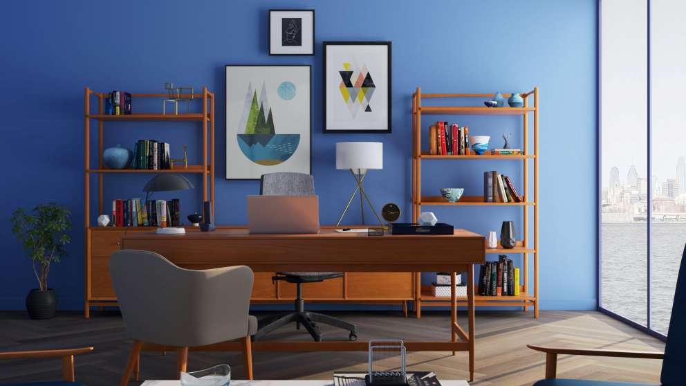 Las paredes ofrecen muchas posibilidades decorativas en una oficina