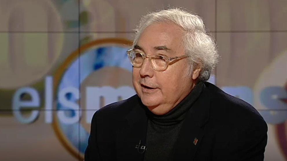 El ministro  y sociólogo Manuel Castells, entrevistado en el programa 'Els matins' de TV3 en 2012. Foto: EP