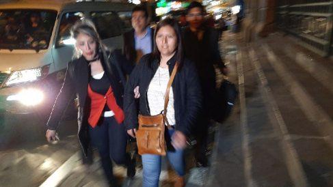 Momento de la detención de dos altos cargos del Gobierno de Evo Morales.
