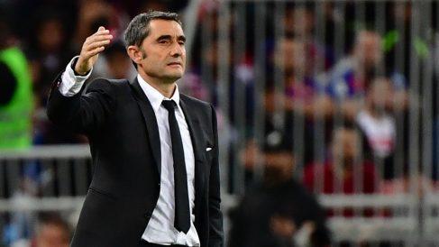 Ernesto Valverde, durante la Supercopa de España 2020. (AFP)