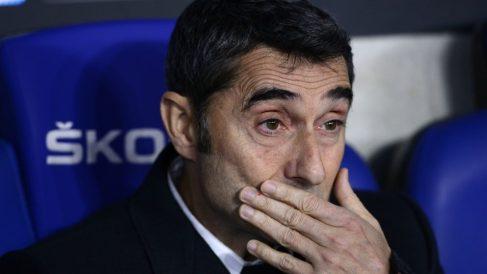 Valverde, durante un partido del Barcelona. (AFP)