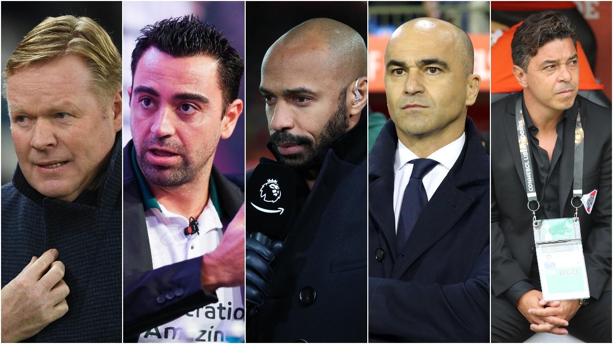 Cinco candidatos a ocupar el banquillo del Barcelona.