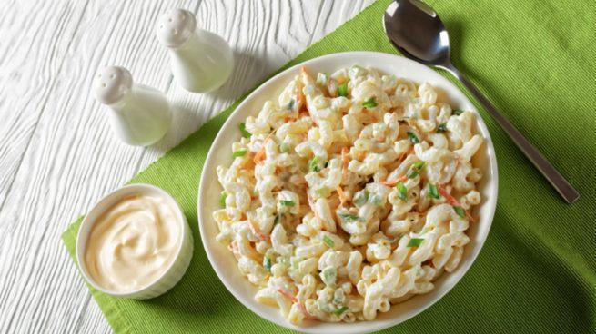 Receta de ensalada de pasta con mayonesa de naranja
