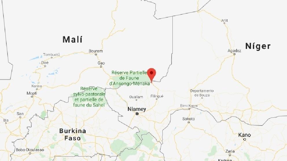 Imagen del mapa donde se ha producido el ataque