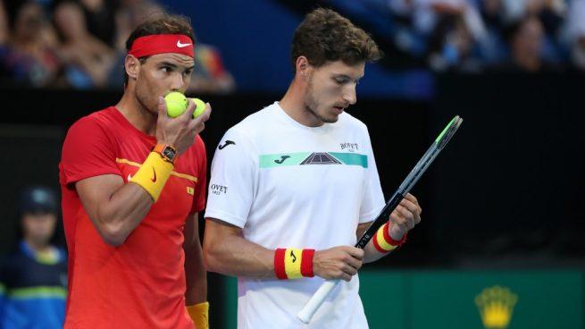 España vs Bélgica: Resultado del partido de dobles con Nadal y Carreño de ATP Cup 2020, en directo