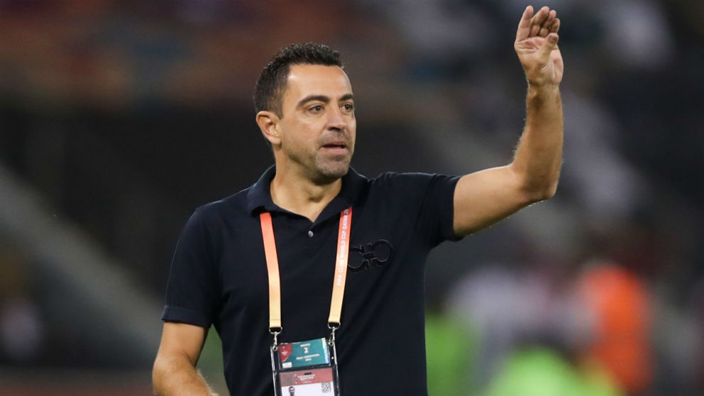 Xavi durante un partido con el Al-Sadd en el Mundial de Clubes. (AFP)
