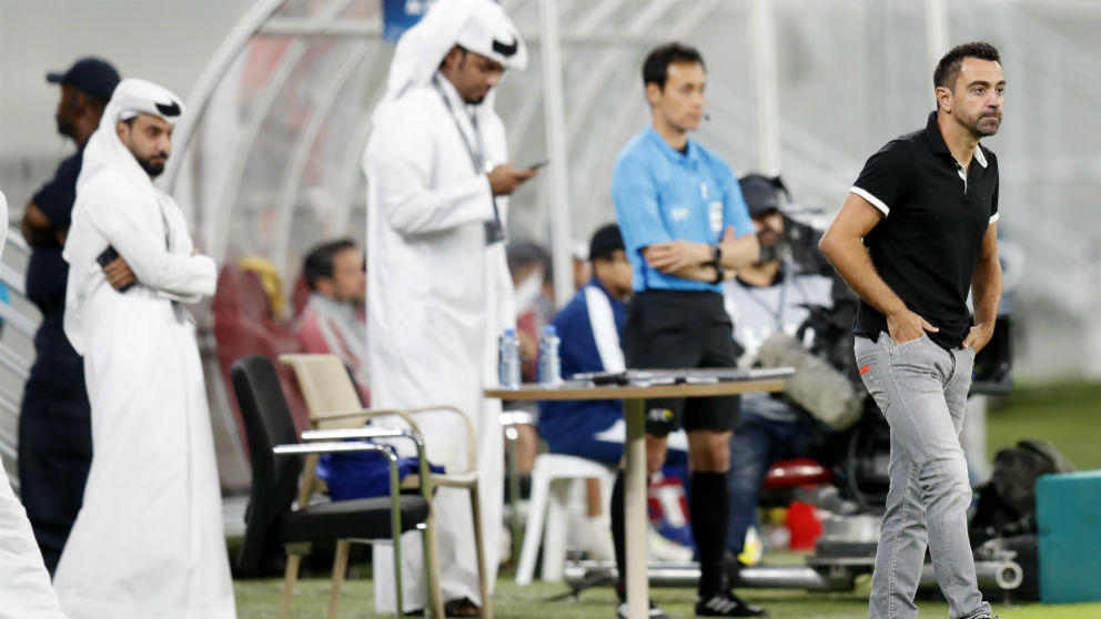 Xavi Hernández durante un partido con el Al-Sadd. (AFP)