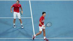 Djokovic y Troicki celebran un punto. (Getty)