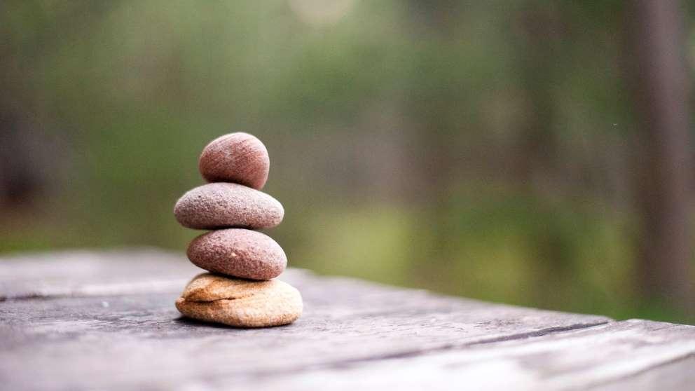 Las piedras son un elemento muy importante en la meditación