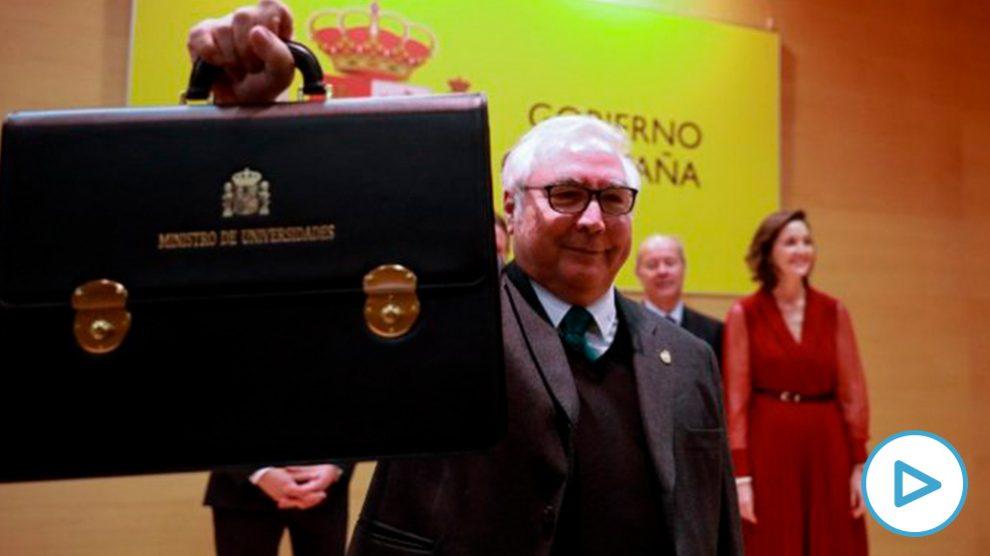 El nuevo ministro de Universidades, Manuel Castells. Foto: EP