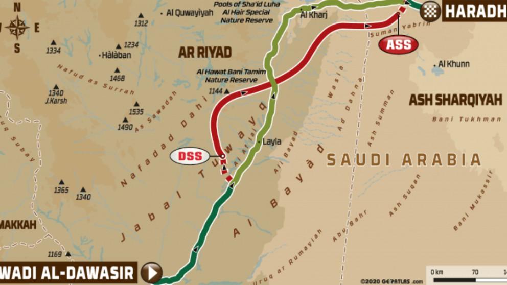 Perfil de la etapa 9 del Rally Dakar 2020.