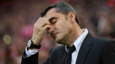 Ernesto Valverde, la noche del 4-0 en Anfiled. (Getty)