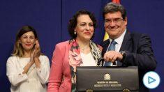 José Luis Escrivá junto con la ex ministra de Trabajo, Magdalena Valerio