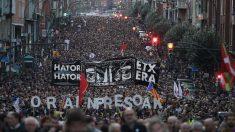 Manifestación por los presos de ETA en Bilbao. Foto: EP