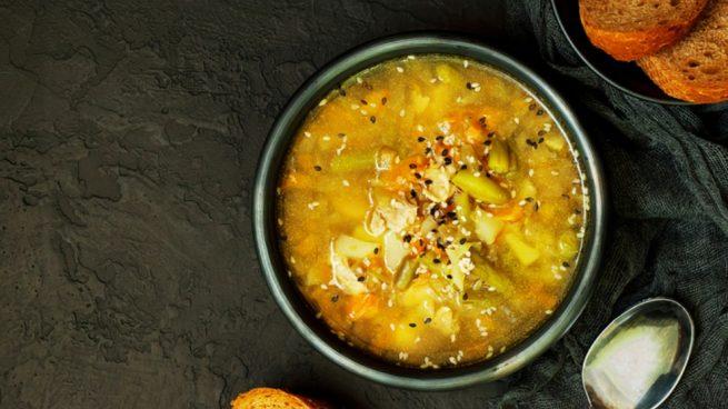 Receta de sopa de judías verdes con zanahoria