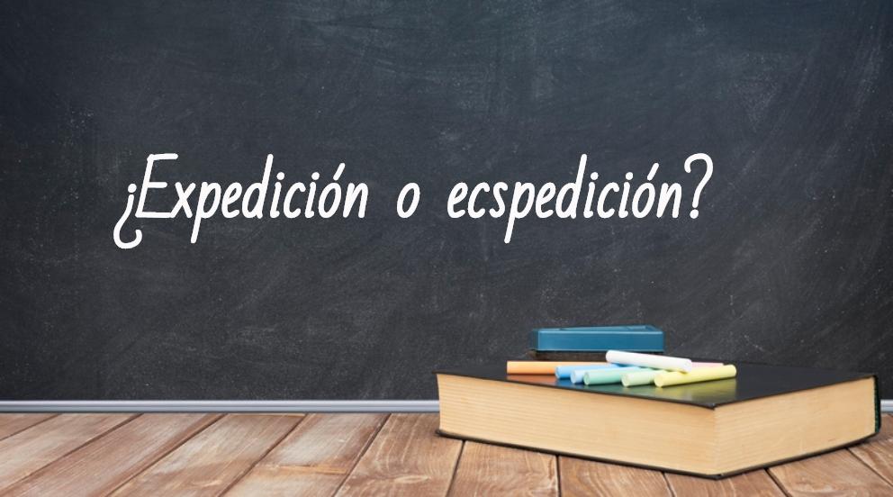 Se escribe expedición o ecspedición