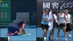 Jakupovic no podía respirar debido a los altos niveles de contaminación y tuvo que retirarse del Open de Australia.