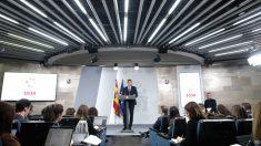 Pedro Sánchez, en rueda de prensa tras el Consejo de Ministros. Foto: EP