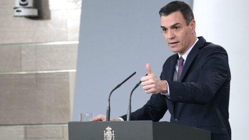 Pedro Sánchez en una reciente rueda de prensa (Foto: EUROPA PRESS).
