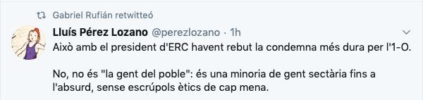 Los CDR denuncian la 'traición' de ERC con una cabeza de cerdo sobre una bandera de España en una sede