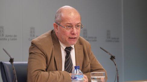 El vicepresidente de la Junta, Francisco Igea, en rueda de prensa. Foto: EP