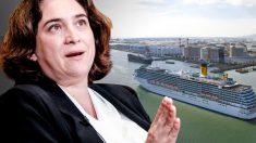 Ada Colau quiere limitar los cruceros