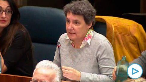 Beatriz Gimeno, diputada de Unidas Podemos en la Asamblea de Madrid.