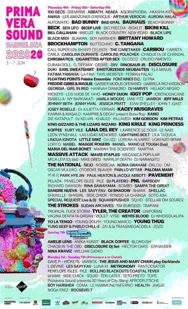 Bad Bunny, Lana del Rey, Bad Gyal… esta es la lista de confirmados parael Primavera Sound 2020