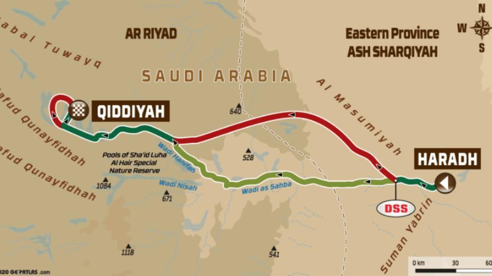 Así es la última etapa del Rally Dakar 2020.