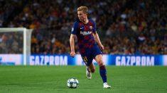 De Jong, en un partido con el Barcelona. (Getty)
