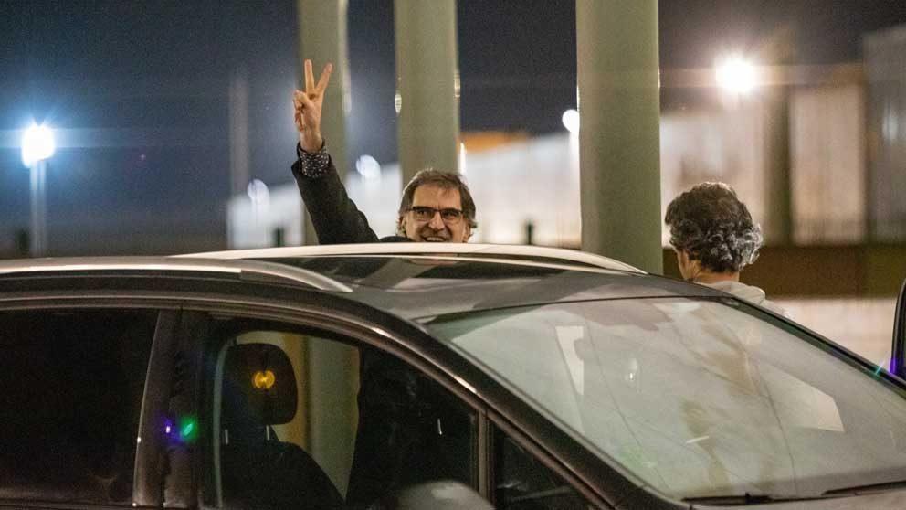 Jordi Cuixart sale de la cárcel de Lledoners. Foto: Europa Press.
