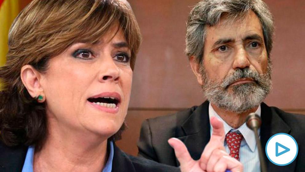 Dolores Delgado y Carlos Lesmes