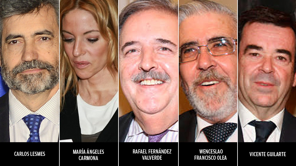 Los 5 magistrados que han votado en contra del partido que les aupó.