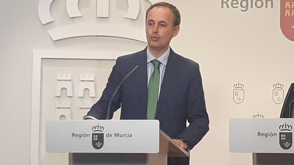 Javier Celdrán, consejero de Hacienda en la Región de Murcia (Foto: EP)