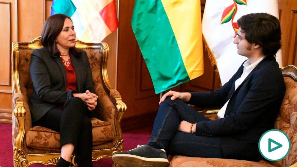 La ministra de Relaciones Exteriores de Bolivia, Karen Longaric.