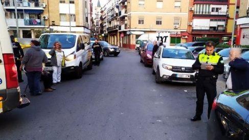 Accidente por atropello en el barrio sevillano de Triana. Foto: EP