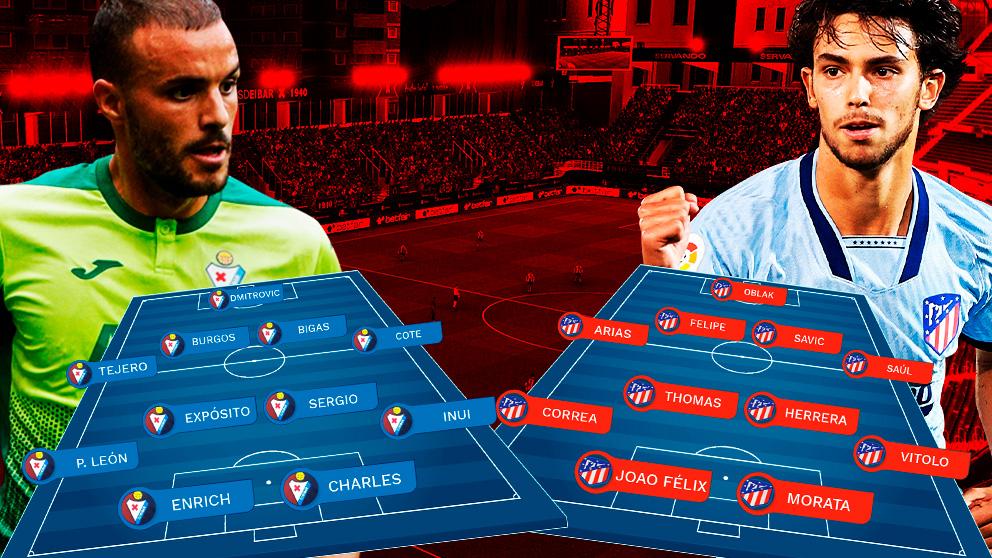 Eibar y Atlético se enfrentan en Ipurúa.