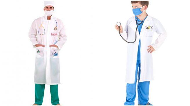 disfraz de médico casero