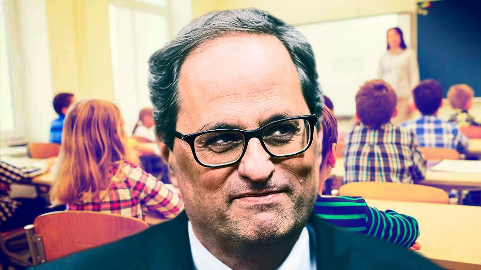 Quim Torra riega de subvenciones a los espías del catalán en los colegios