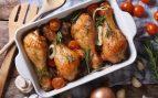 Receta de muslos de pollo asados con verduras