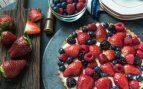 Receta de pastel rápido de crema con frutas