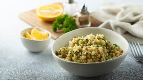 Quinoa con hinojo y puerro