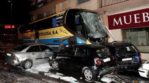 Accidente de tráfico en Estella. Foto: EFE
