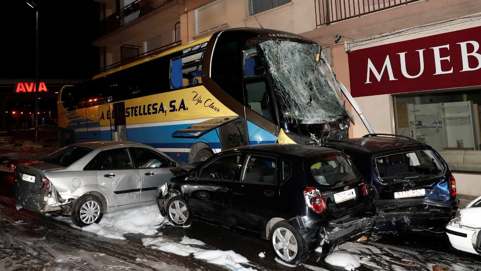 Accidente de tráfico en Estella. Foto: EFE