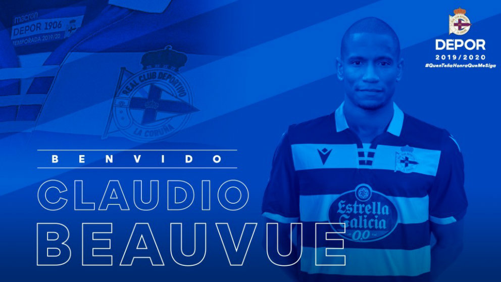 Claudio Beauvue, nuevo fichaje del Deportivo. (RC Deportivo)