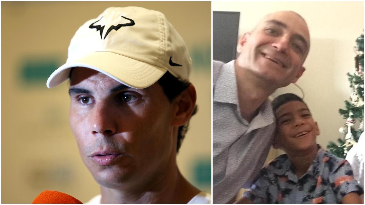 Rafa Nadal y Juanjo Vispe, en sendas imágenes de archivo.