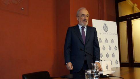El director de la RAE, Santiago Muñoz Machado, en la presentación del informa sobre el lenguaje inclusivo en la Consitución. (Ep)