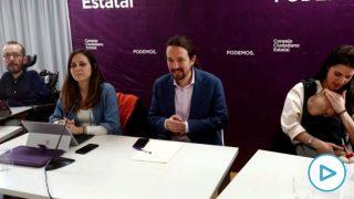 Pablo Iglesias en el Consejo Ciudadano Estatal. (Foto: EFE)