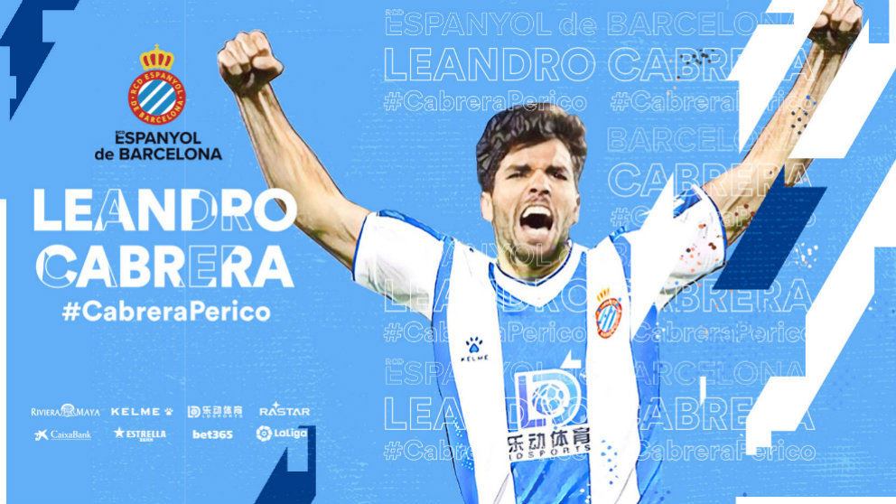 Leandro Cabrera, nuevo fichaje del Espanyol. (@RCDEpanyol)