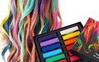 pintarse el pelo con tizas de colores